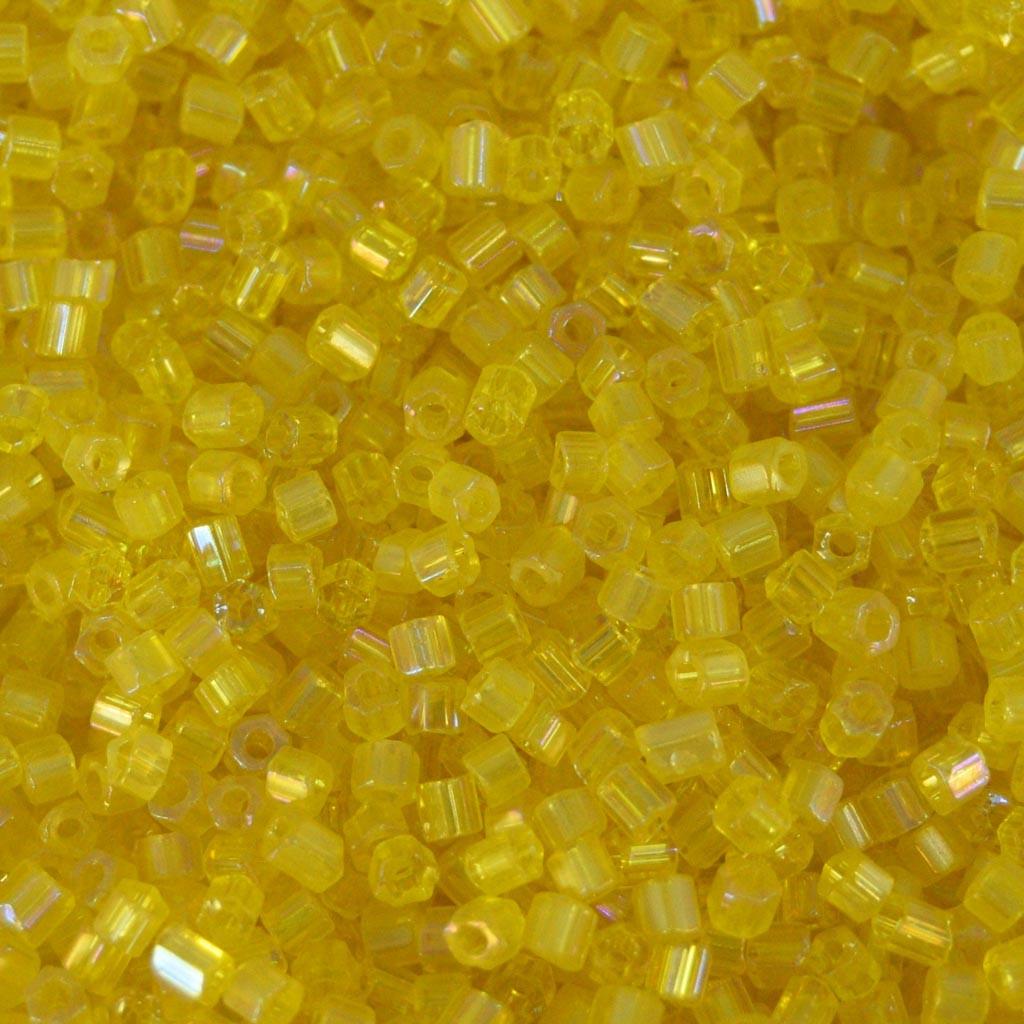 Vidrilho 2 x 9/0 Transparente Irizado Amarelo 708293
