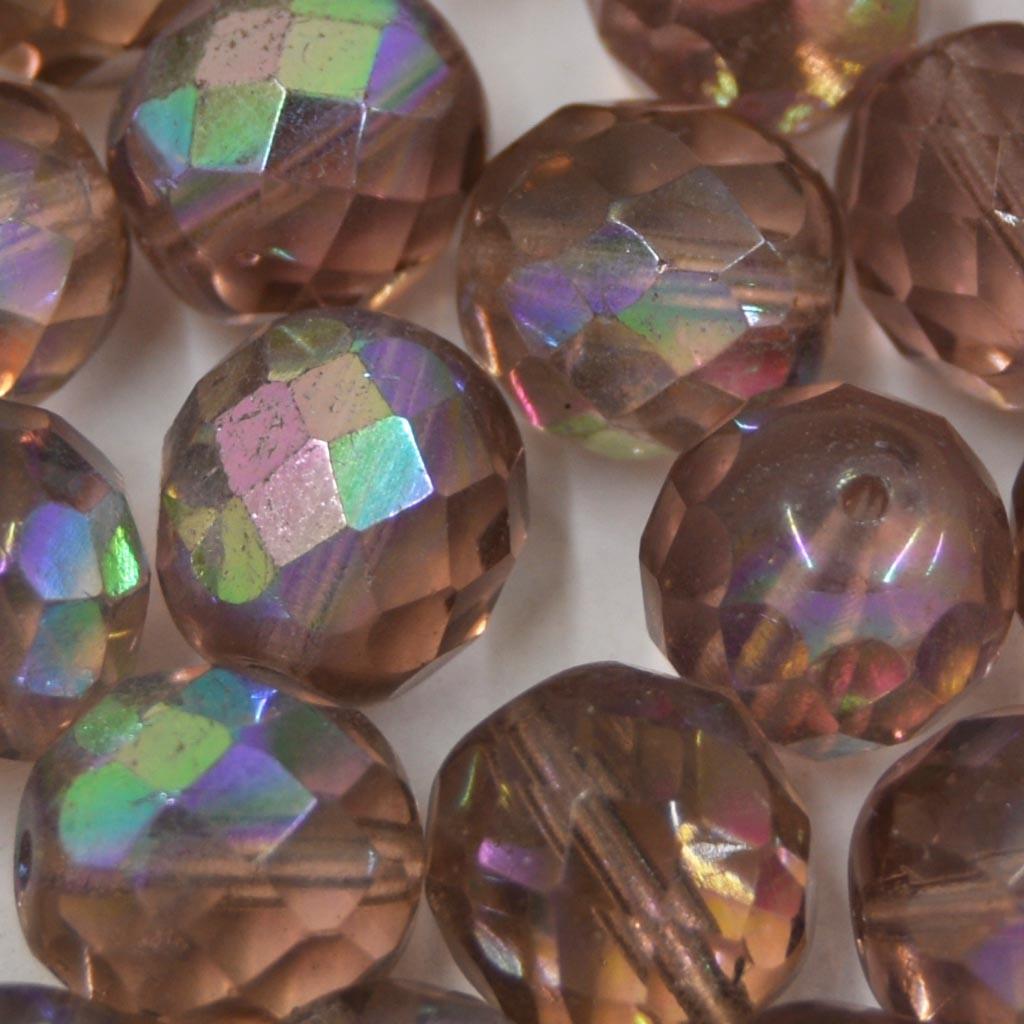 Cristal 12 mm Transparente Irizado Lilás 708497