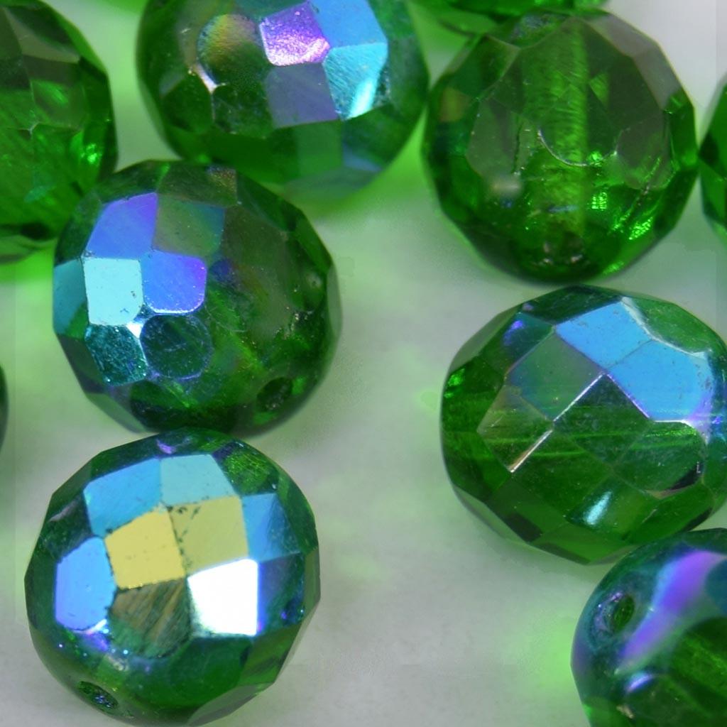 Cristal 12 mm Transparente Irizado Verde Bandeira 708501