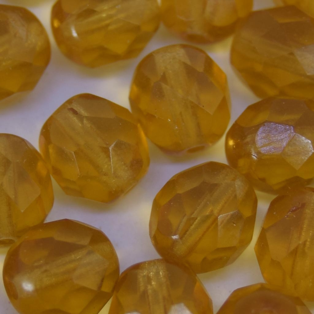 Cristal 8 mm Transparente Ouro Escuro 711715