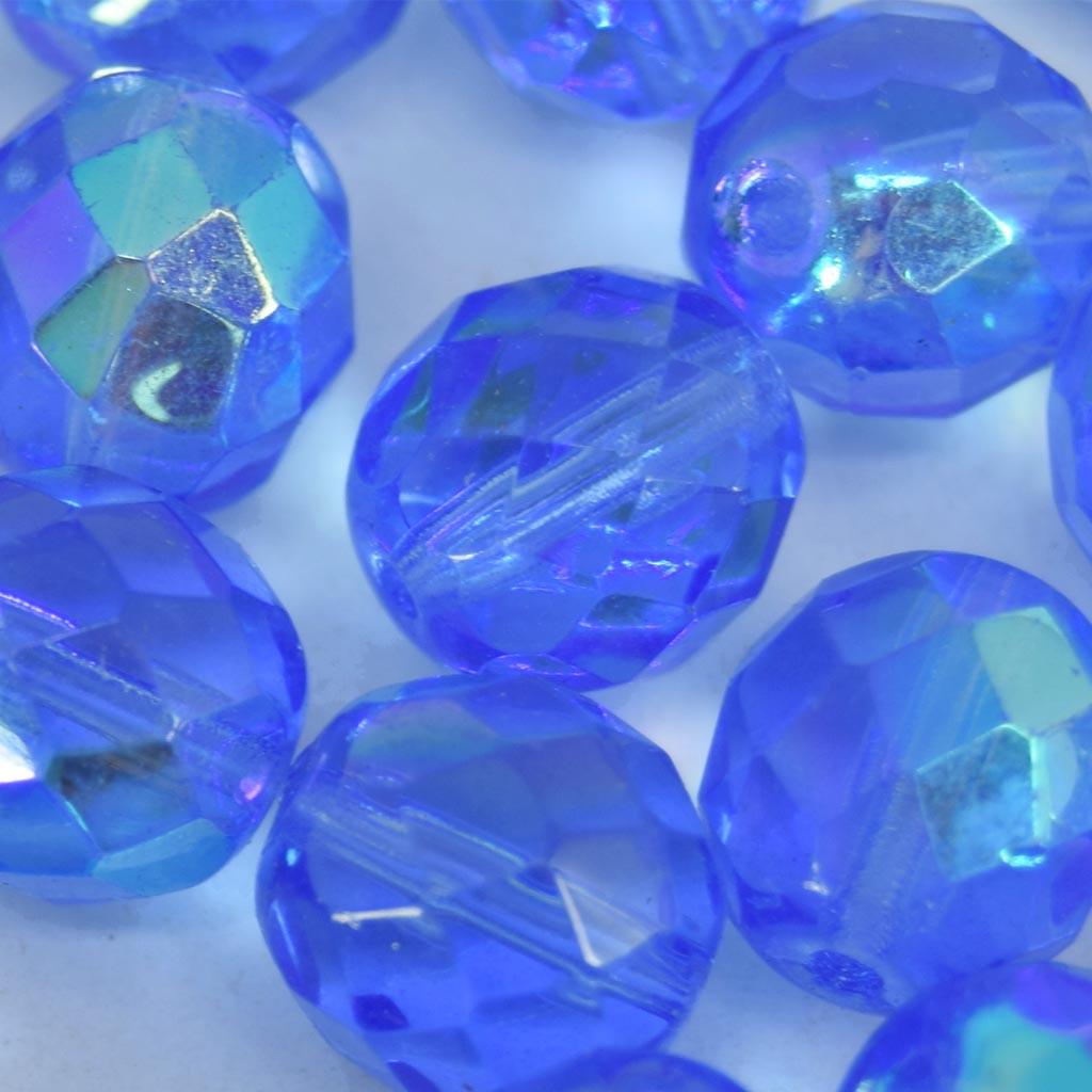 Cristal 10 mm Transparente Irizado Azul Anil 711721