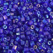 Vidrilho 2 x 9/0 Transparente Irizado Azulão 708295
