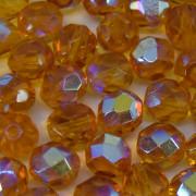 Cristal 8 mm Transparente Irizado AB Amarelo Ouro 708467