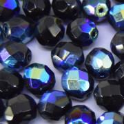 Cristal 8 mm Transparente Irizado AB Preto 708475