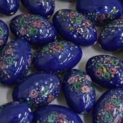Murano Italiano Decorado Millefiori Azulão 23/15 mm 709301
