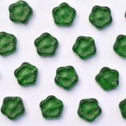 Enfeite de Vidro Tcheco Flor 10 mm Verde 709608