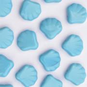 Enfeite de Vidro Opaco Tcheco  Concha Shell 14 x 14 mm Azul 710234