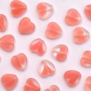 Enfeite de Vidro Tcheco Coração 10 x 10 mm Rosa 710371