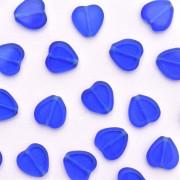 Enfeite de Vidro Tcheco Coração 10 x 10 mm Azulão 710373
