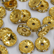 Rondela Strass 11 mm 1S Ouro  710420