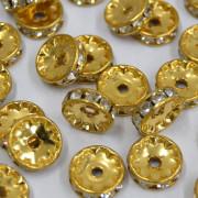 Rondela Strass 1S Ouro  710420