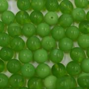 Conta de vidro Seda Transparente Verde 8 mm 710878