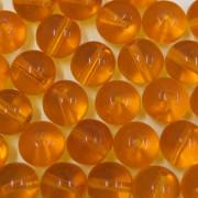 Conta de vidro Transparente Ouro Claro 10 mm 710880