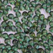 Conta de vidro Transparente Pintado Verde Escuro 5 mm 710949