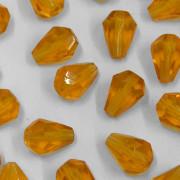 Cristal Gota Pendant MC Machine Cut  Drop Ouro 9 x 7 mm 710965