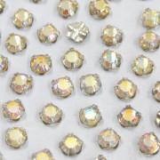 Pedra Strass Grampada Aurora Boreal Cristal Transparente ss 16 = 3.80 mm 711081