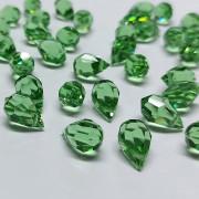 Cristal Gota Pendant MC Machine Cut  Drop Transparente Verde Peridot 15 x 9 mm 711092