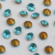 Strass Mc Chaton Azul Aqua Bohemica SS 16 = 3.80 mm 711166