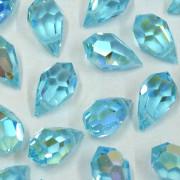 Cristal Gota Pendant MC Machine Cut  Drop Transparente Irizado Azul 15 x 9 mm 711251