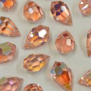 Cristal Gota Pendant MC Machine Cut  Drop Transparente Irizado Rosa 15 x 9 mm 711252