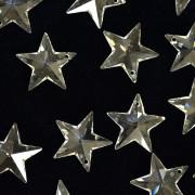 Pingente Estrela 20 mm Transparente Cristal Lapidado 711265