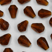 Cristal Gota Pendant MC Machine Cut  Drop Marrom 9 x 7 mm 711287