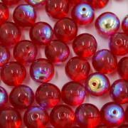 Conta de vidro Transparente Irizado Vermelha 8 mm 711462