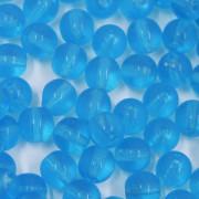 Conta de vidro Transparente Azul 10 mm 711472