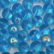 Conta de vidro Transparente Irizado Azul Claro 8 mm 711481