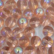 Conta de vidro Transparente Irizado Rosa 8 mm 711483