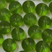 Conta de vidro Transparente Verde Oliva 10 mm 711491