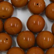 Conta de porcelana 16 mm Opaca Marrom  711521