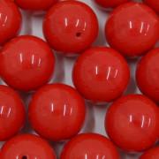 Conta de porcelana 16 mm Opaca Vermelha 711524