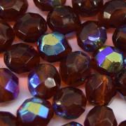 Cristal 8 mm Transparente Irizado Marrom 711602