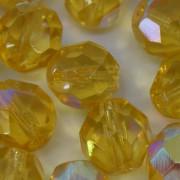 Cristal 12 mm Transparente Irizado Ouro 711627