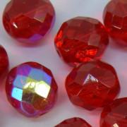 Cristal 14 mm Transparente Irizado Vermelho 711642