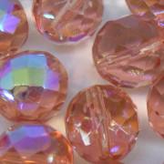 Cristal 14 mm Transparente Irizado Rosa 711644