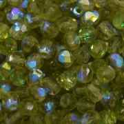 Cristal 4 mm Transparente Irizado Verde Oliva 711695