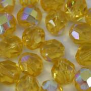 Cristal 8 mm Transparente Irizado Ouro Claro 711712