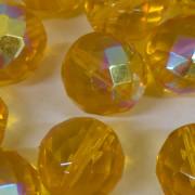 Cristal 14 mm Transparente Irizado Amarelo Ouro 711733