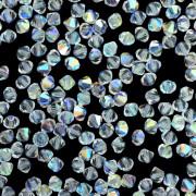 Balão 4 mm Transparente Cristal Lapidado Amarelo AB Aurora Boreal Furtacor 711766