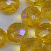 Cristal 14 mm Transparente Irizado Ouro Claro 711793