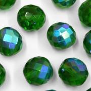Cristal 14 mm Transparente Irizado Verde 711813