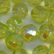 Cristal 8 mm Transparente Irizado Amarelo Limão 711817