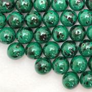 Conta de porcelana 10 mm Craquelada Verde x Preto 712038