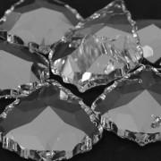 Pingente Lustre Transparente Amêndoa  Bordado Facetada Pendluque Asfour 76 x 53 mm 712079