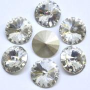 Pingente Rivoli 16 mm Transparente Cristal Lapidado 712149