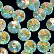 Pingente Rivoli 16 mm Transparente Cristal Lapidado Irizado 712150