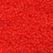 Miçanga 9/0 Opaca Matizada Transparente Vermelha 712281