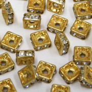 Rondela Strass 4 x 4 mm Ouro  711960